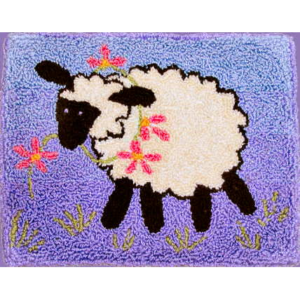 Spring Lamb Punch Needle