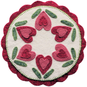 Blooming Hearts Candle Mat